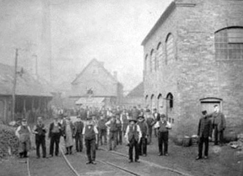 An old image of the coalbrookdale foundry in Ironbridge Telford in Shropshire