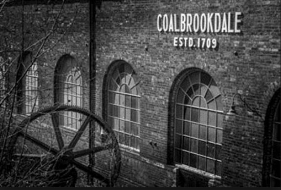 An old image of the coalbrookdale foundry based in Telford Shropshire