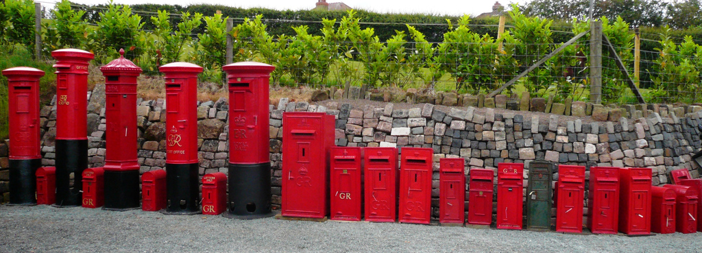 Buy Antique Royal Mail Pillar Boxes Fully Refurbished at UKAA with the original Chubb lock and keys are available to View and Buy in our Yard