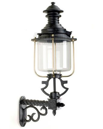 New Victorian style Belgravia reproduction black wall mounted lanterns in stock ready for immediate dispatch