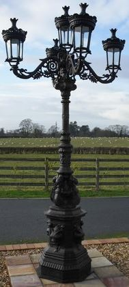 Ref: LF1023 Royal Colonial Opulence Collection Cast Iron Lantern And Lamp Post Set