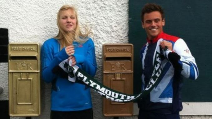Original antique post boxes painted for Olympic winner Tom Daley here in our workshops