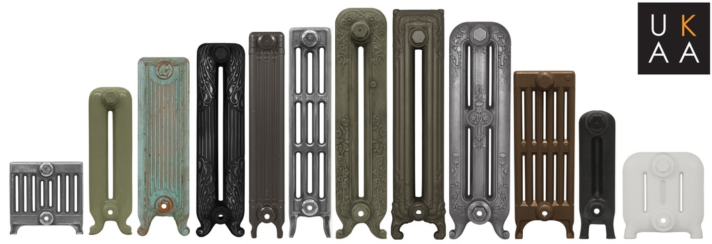 At UKAA you can purchase a abespoke made Carron radiators made in cast iron. All of these radiators are available in a variety of traditional styles, sizes, colours and finishers