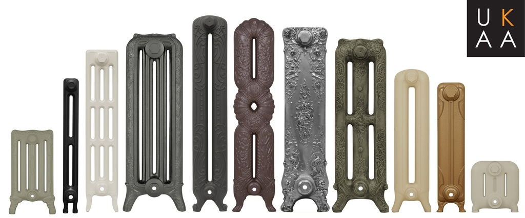 Traditional New Carron Cast Iron Radiators made to order at UKAA ideal for period old Victorian homes and New Properties