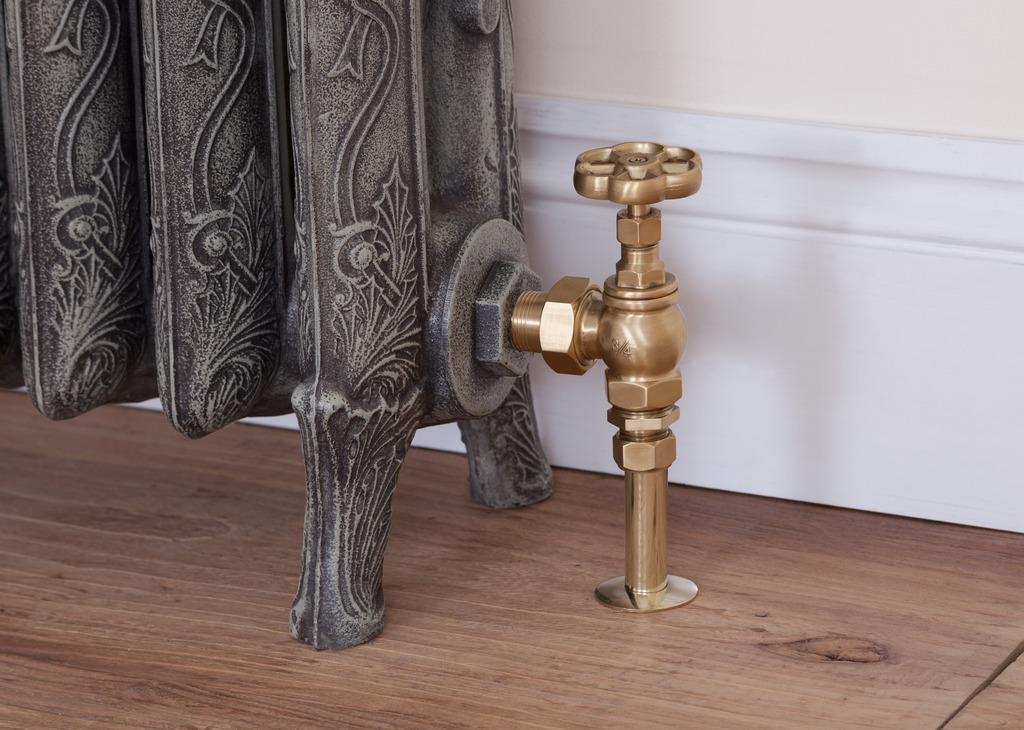 Angled radiator valves