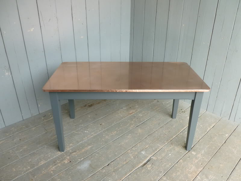 Copper topped table with