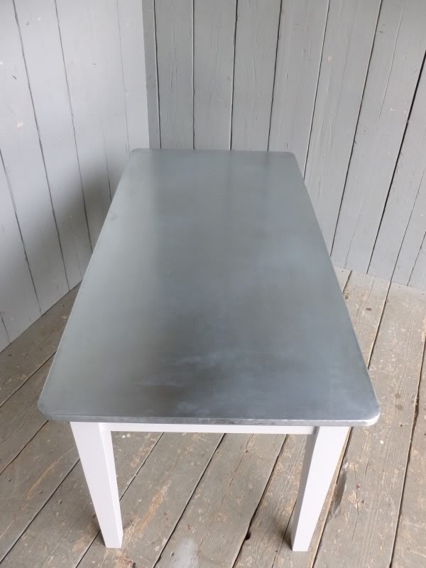 Looking down at