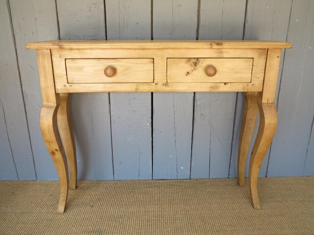 Reclaimed Pine Bespoke Console Table with Cabriole Legs