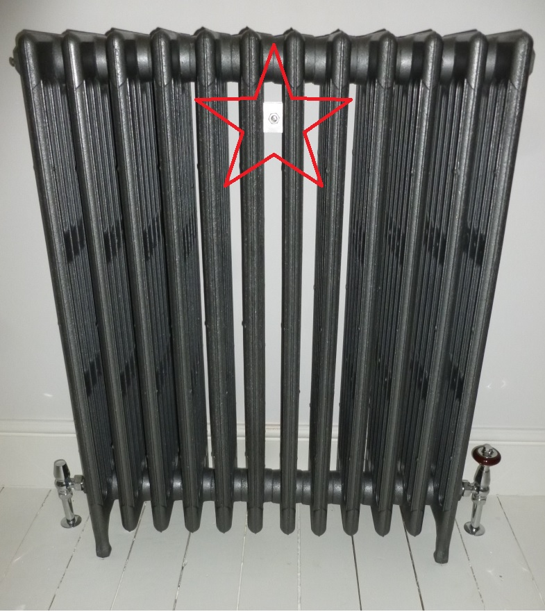 How to fit a Carron cast iron radiator wall stay or tie to your reclaimed salvaged original Victorian antique radiator