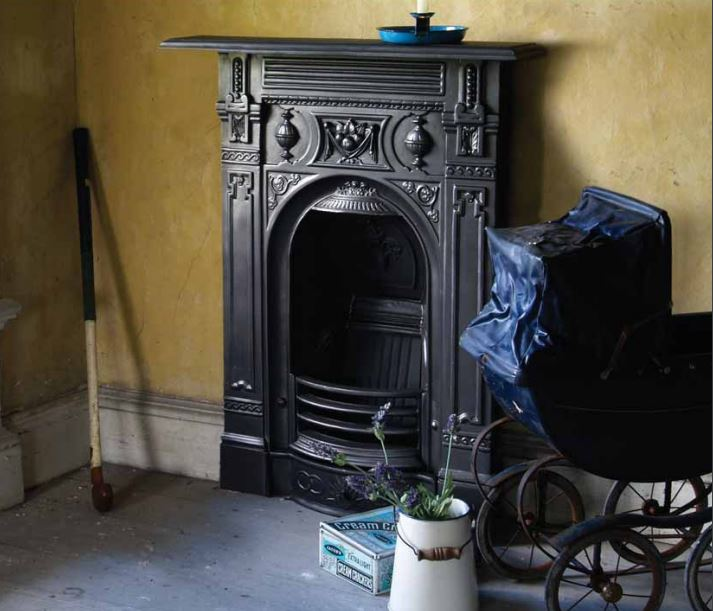 Carron Victorian HEF246 or HEF043 cast iron combination fireplaces are a traditional style cast from original moulds and ready to view in our showroom