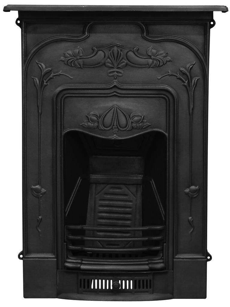 Traditional style Carron cast iron fireplaces are available to view in the Jasmine HEF247 style in black or hand polished here in our warehouse
