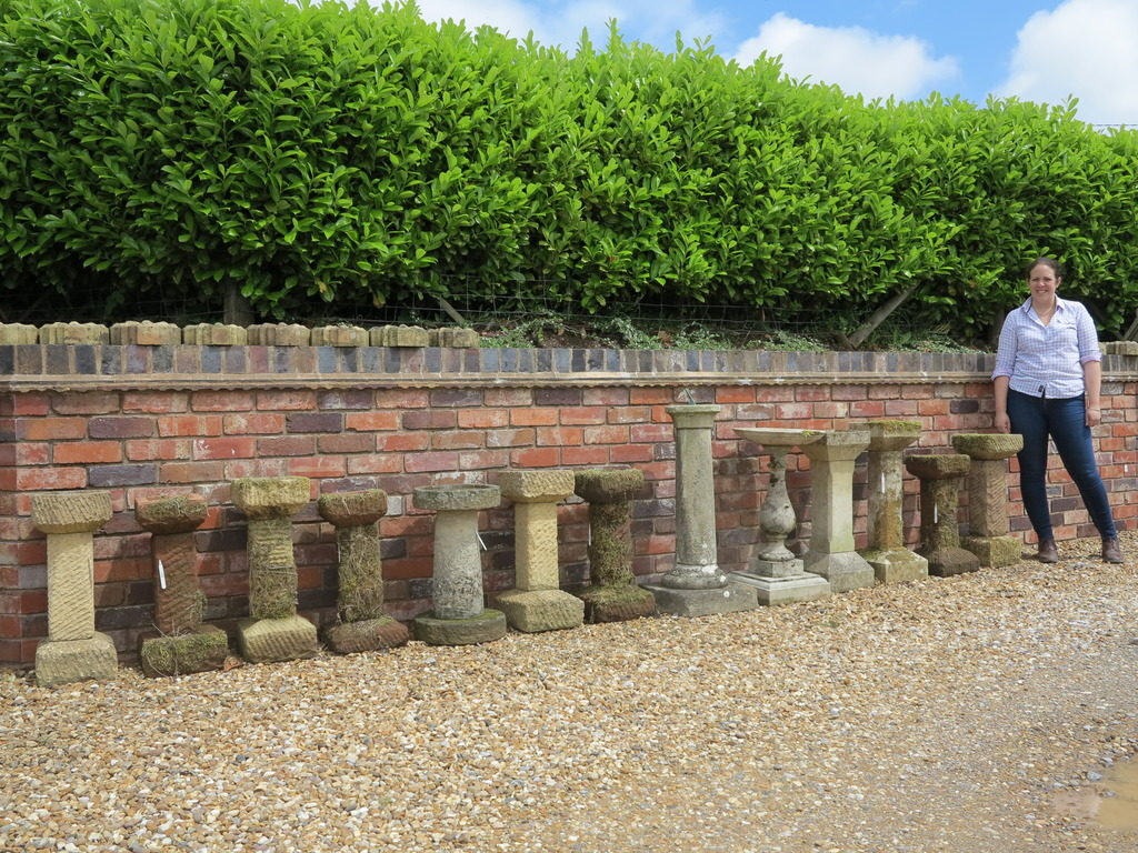reclaimed traditional antique garden birdbaths for sale at UKAA made from limestone, sandstone, terracotta and wood, we also have Portland stone for patios
