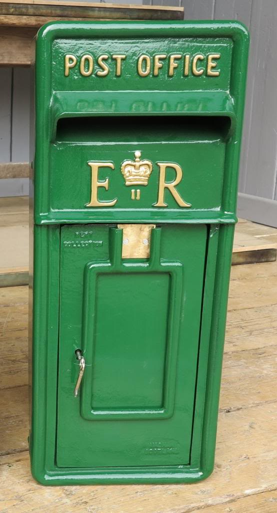 Post Box hand painted in green