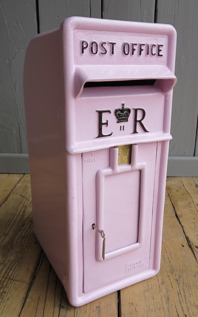 Pink Royal Mail Post Box