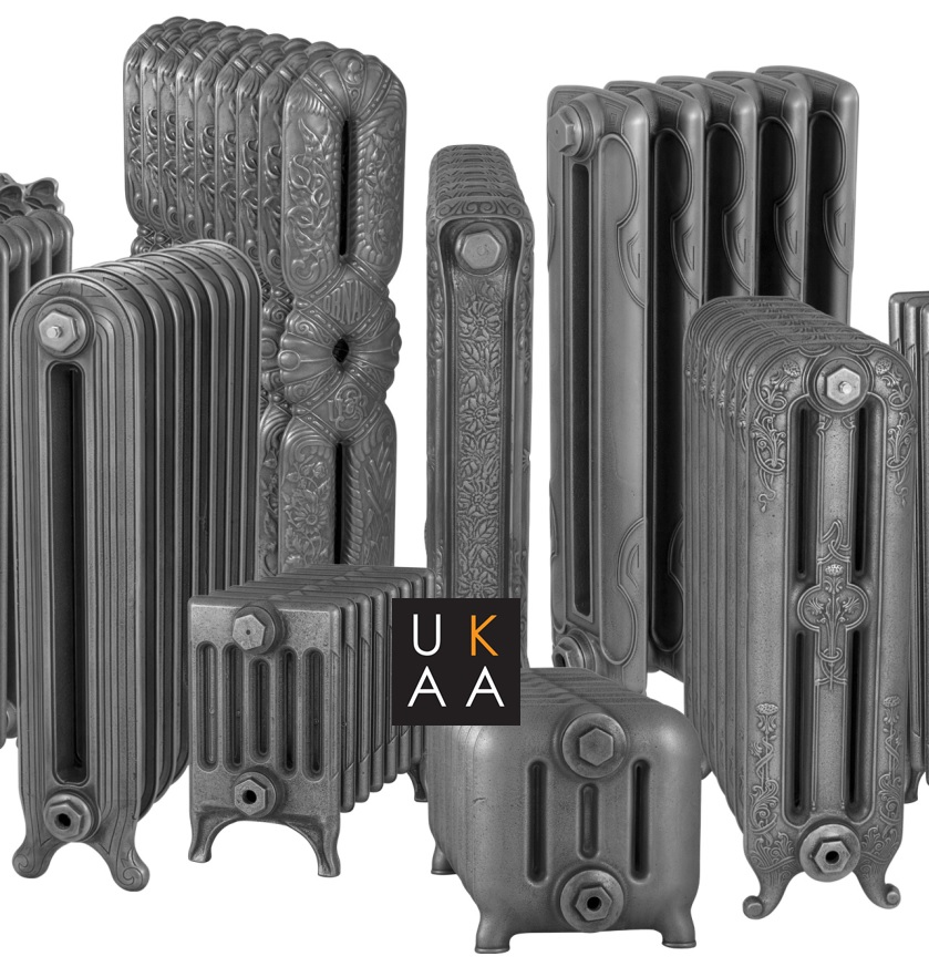 Original style reproduction cast iron radiators made from original moulds and polished down to bare metal to make a hand burnished finish