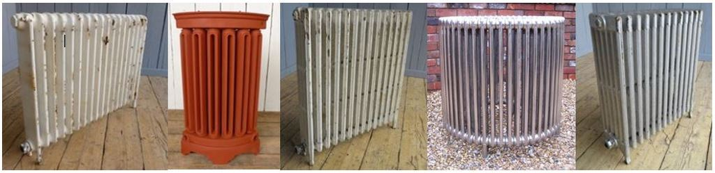 Traditional reclaimed Victorian column cast iron radiators and old salvaged antique radiators ideal for period and modern properties
