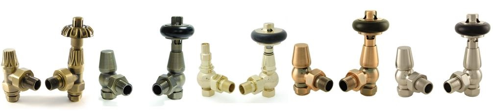 Thermostatic or TRV & Manual radiators valves for sale to use with old Victorian column cast iron radiators or new modern style radiators ready for delivery