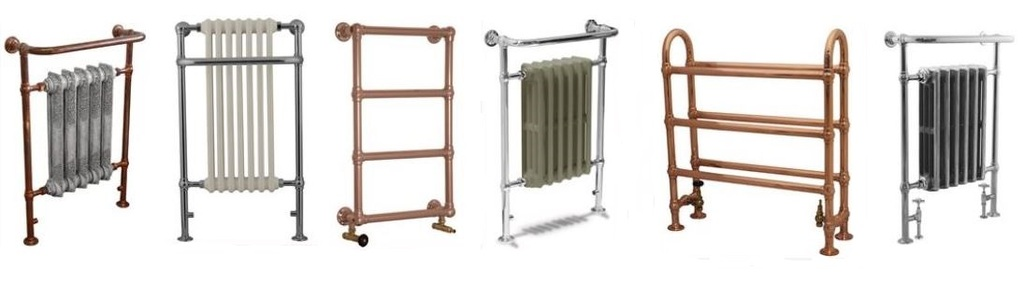 Traditional Victorian Style Cast Iron Bathroom Radiators and Modern Heated Towel Rails for sale at UKAA ready for delivery