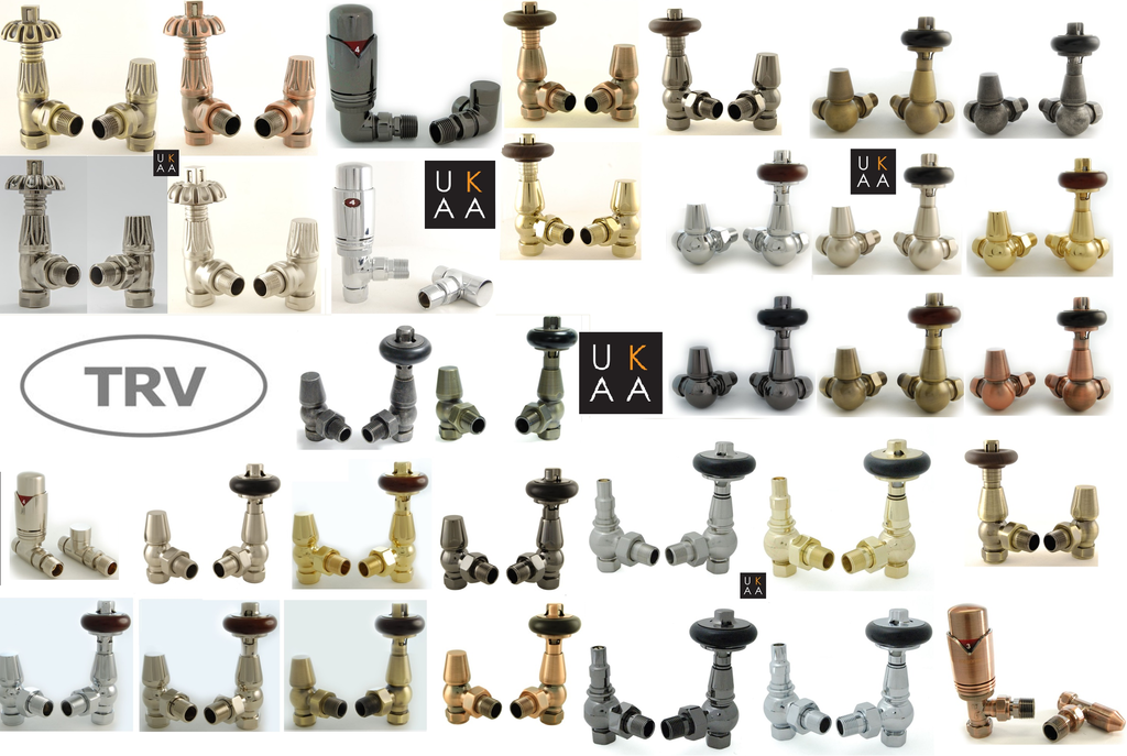 Buy Traditional TRV Thermostatic Radiator valves in a range of designs such as Faringdon and Realm are avialable to buy from our Showroom in Staffordshire