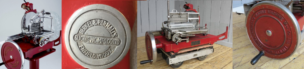 Buy Antique Berkel Bacon Slicers also Known as Meat Slicers which are manually operated and been fully refurbished making them perfect for Shop displays