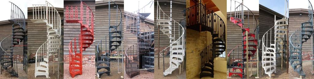 Reclaimed and Original Cast Iron or Metal Spiral Stairs and Staircases for Sale at Our Antique Shop in the Midlands ideal for Internal use or Out Doors