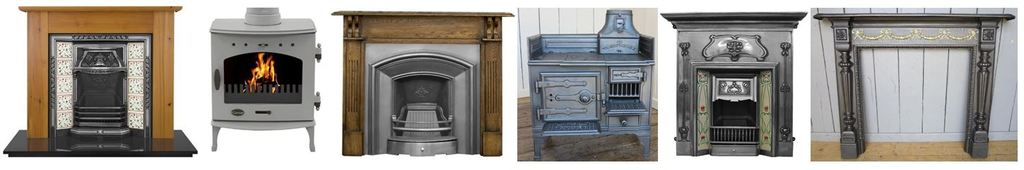Original Antique Victorian Fireplace, Stoves, Ranges &Surrounds have been Fully Refurbished by UKAA, we also have New Fireplaces & Enamelled Stoves in Stock