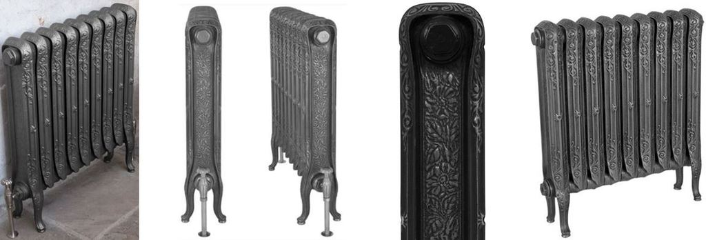 New Carron Reproduction John King Cast Iron Column Radiator with its Fancy Ornate Design which is Ideal to use in Period Victorian Properties or Modern homes