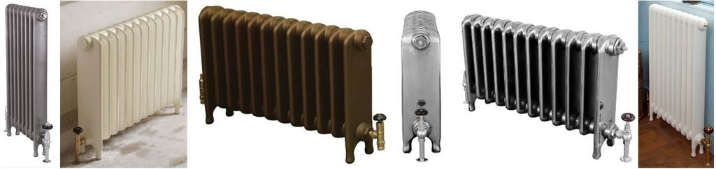 Reproduction  Cast  Iron Eton Style Column Radiators made from the Designs of Salvaged  Cast Rads Ideal t] for Period Victorian Properties & Contemporary Homes