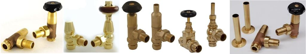 View and Buy Cast Iron Radiator Valves such as the Edwardian Bradley Polished Brass Finish are Ideal for Cast Iron Radiators and Towel Rails