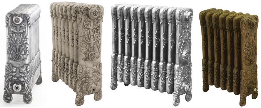 Carron Cast Iron Chelsea Column Radiators with a Decorative and Ornate Pattern, Cast Rads Based on Old Reclaimed Victorian Salvaged Radiators..