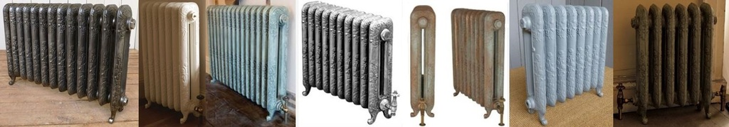 Daisy Carron Cast Iron Column Radiators for Sale at UKAA designed based on Old Original Victorian Cast Iron Radiators and Reclaimed Salvaged Cast Rads.