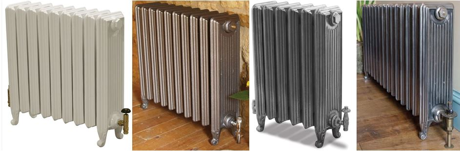 For Sale New Carron Cast Iron Churchill Reproduction Radiators at UKAA, Based on Old Vintage and Victorian Salvaged Cast Rads ideal for Period Properties.