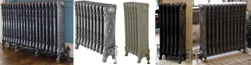 Ornate and Decorative Verona Style Cast Iron Radiators at UKAA based on Reclaimed Old Victorian Column Cast Rads Ideal for Period Homes