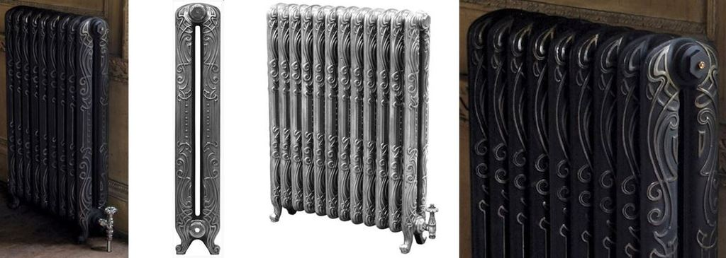 Carron Orleans New Cast Iron Column Radiators for Sale at UKAA with a Classic French Art Deco Design Based on Original Reclaimed Victorian Cast Rads