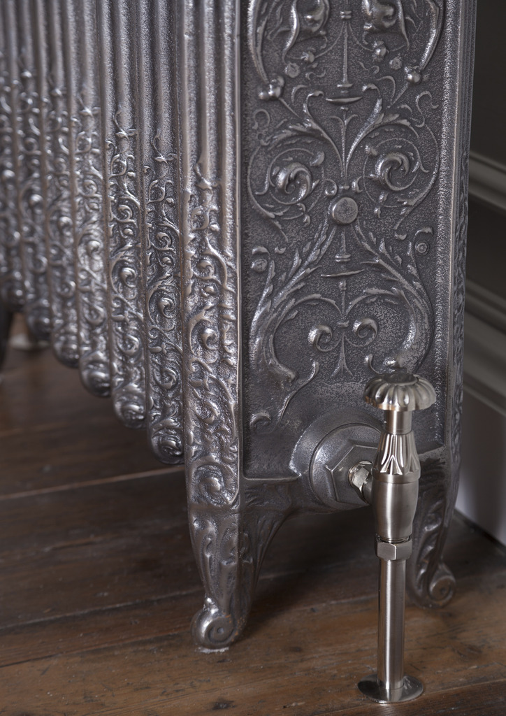 Carron Hand Burnished Cast Iron Radiator in an Ornate Veneto Style are Bespoke Made to Your Sizes and Polished Finishes and Can be Viewed in our Showroom