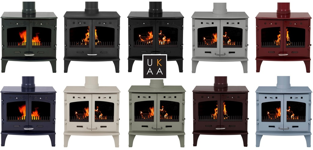 Carron 11Kw Enamel Stoves are Available in a Range of Colours Such as Cream, Red, Blue, Black, Green and Purple | These can be used in Smoke Except zones