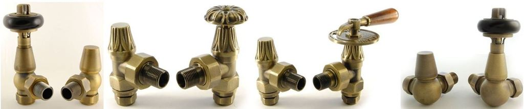 View and Buy Old English Brass Old Fashioned Victorian Style Manual Radiator Valves Online, via a Mobile or from our Shop in Staffordshire