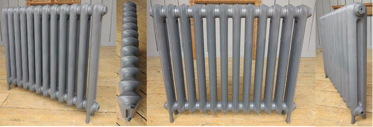 Buy Traditional Princess Style Carron Cast Iron Radiators Built Up and in Stock in a Primer Finish Ready for Collection or a Next Day Delivery