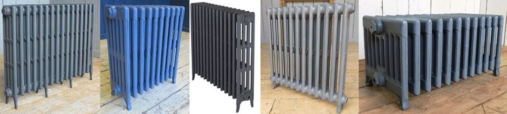Purchase Victorian Style Cast Iron Radiators in a 2, 4, 6 or 9 Column Design Made by Carron in a Primer Finish Ready for Next Day Delivery or Collection