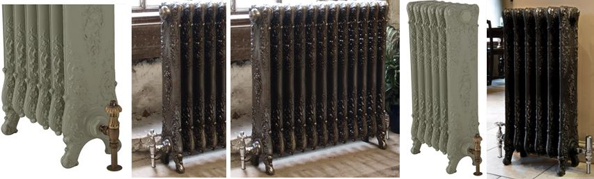 Buy Traditional Ornate Verona Style Carron Cast Iron Radiators Made to Your Custom Sizes and Finishes and Available to View and Buy From our Shop or Online