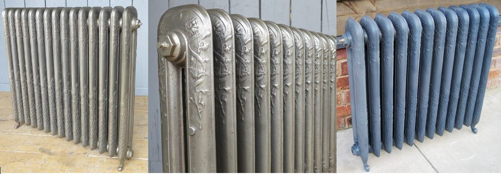 Buy 2 Column Daisy Style Carron Cast Iron Radiators in a Primer Finish Ready Made for Collection From our Radiator Shop or Delivery on a Next Day Service