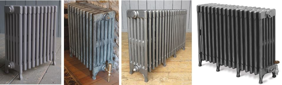 Buy Traditional Victorian Style 6 Column Cast Iron Radiators Made by Carron to Your Bespoke Sizes and Colours can be Viewed and Purchased Online