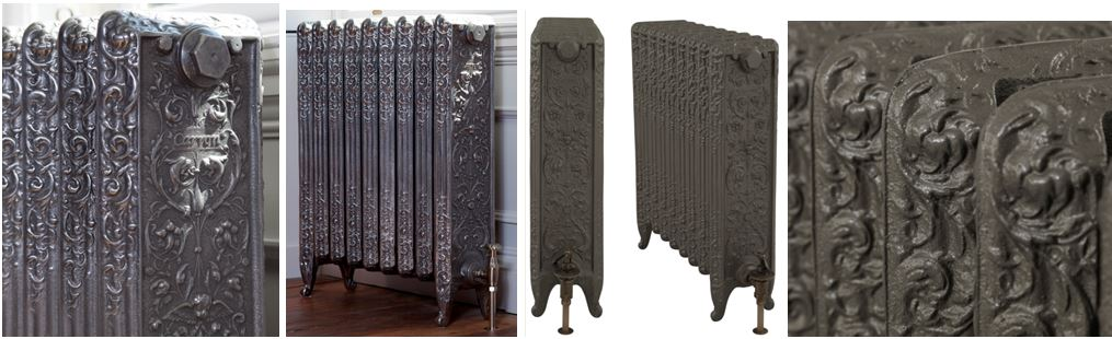 Available to Buy Online Decorative Veneto Style Carron Cast Iron Radiators in Your Bespoke Sizes and Finishes can be Viewed in Our Radiator Showroom