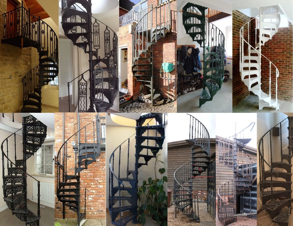 Buy Antique Cast Iron Spiral Staircases Perfect for Tight spaces such as Loft Conversions | Available for Collection or Delivery Worldwide