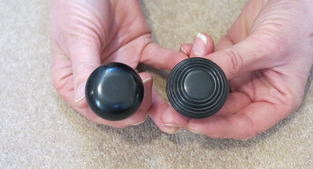 The Period Door Knob in a Bun & Beehive design made from Ebony for Cupboard, Victorian style Knobs