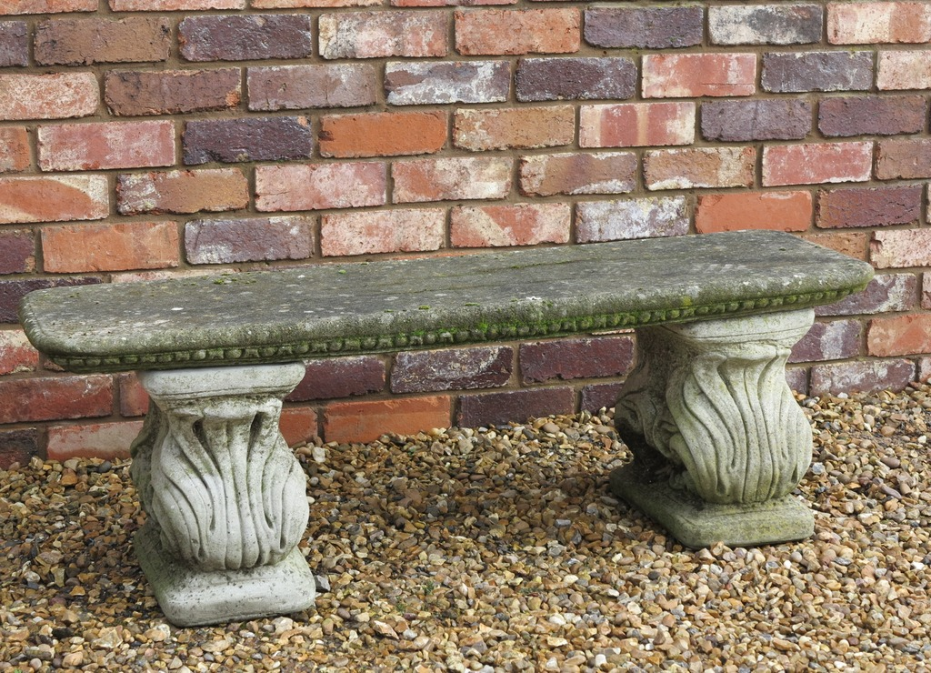 Buy Antique Garden Benches Made from Old Solid Stone, Vintage Reconstituted Stone or salvaged wood are perfect to add character to a Tradtional Garden