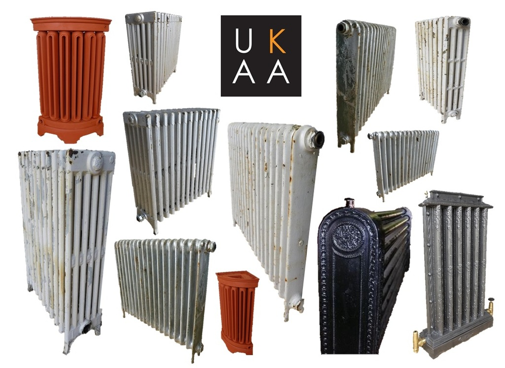 Old Radiators Made From Cast Iron
