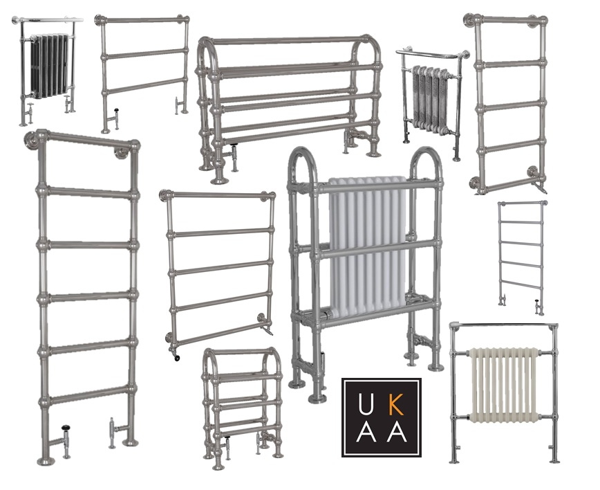 Chrome Towel Radiator Made Traditionally by UKAA