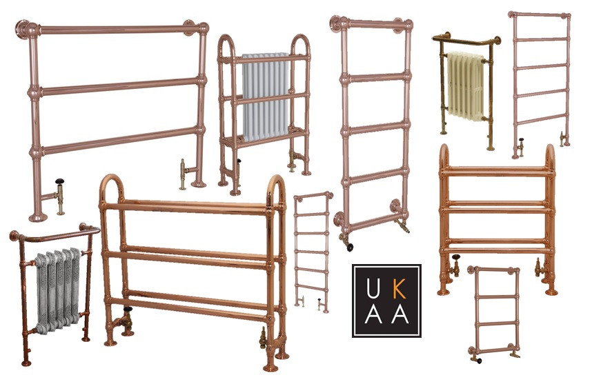 Copper Bathroom Radiators In Stock at UKAA