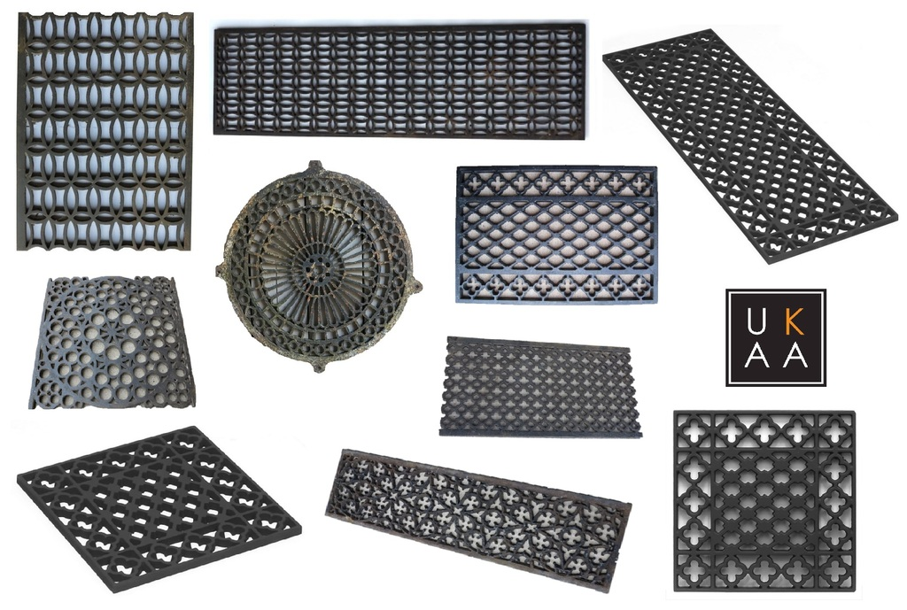 Cast Iron Ventilation Grilles available at UKAA
